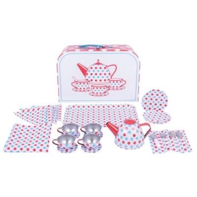 zestaw herbaciany dla dzieci w kropeczki