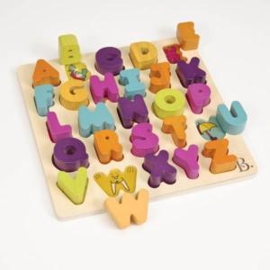 Drewniane puzzle – LITERKI, B.Toys.jpg