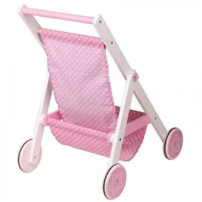 Drewniany wózek spacerowy dla lalek Lelin.jpg