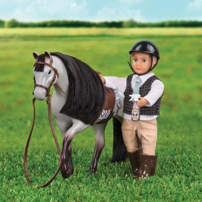 Koń Blue Roan Horse z akcesoriami.jpg