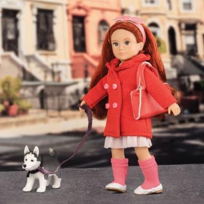 Lalka Lori - BRYN rudowłosa z psem rasy Husky.jpg