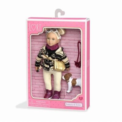 Lalka Lori - DAKOTA - blondynka z psem rasy Jack R.jpg