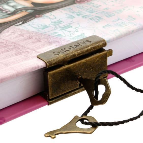 Pamiętnik na kluczyk Santoro - Gorjuss Rosebud.jpg