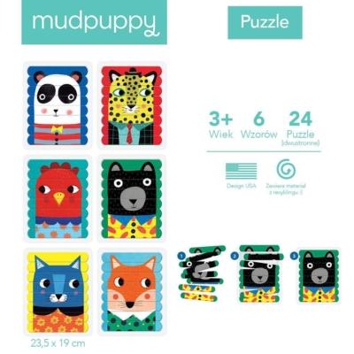 Puzzle Patyczki Zwierzęcy przyjaciele 24 elementy .jpg