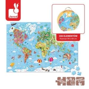Puzzle w walizce Mapa Świata 300 elementów.jpg