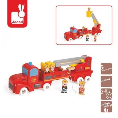 Straż pożarna drewniana duża z 4 postaciami, Janod.jpg