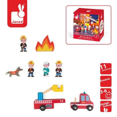 Strażacy zestaw drewniany 8 elementów kolekcja.jpg