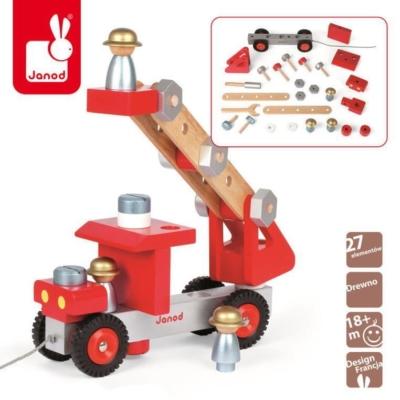 Wóz strażacki do składania drewniany duży.jpg