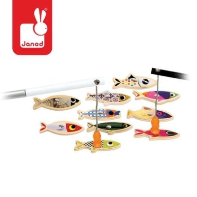 Zestaw do łowienia magnetyczny drewniany 10 rybek.jpg