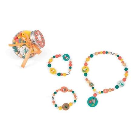 Zestaw do tworzenia biżuterii Drewniane koraliki.jpg