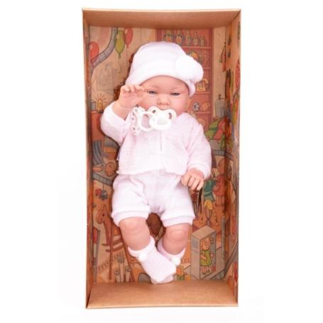 Hiszpańska lalka bobas dziewczynka Marina w czap.jpg