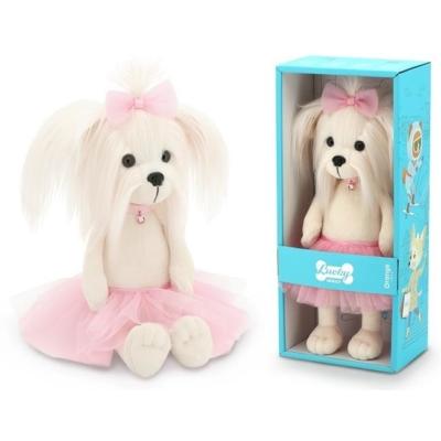 Przytulanka piesek Lucky Mimi w różowej spódniczce.jpg