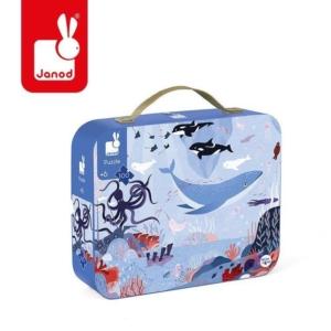 Kartonowa walizka z obrazkiem oceanu atktycznego