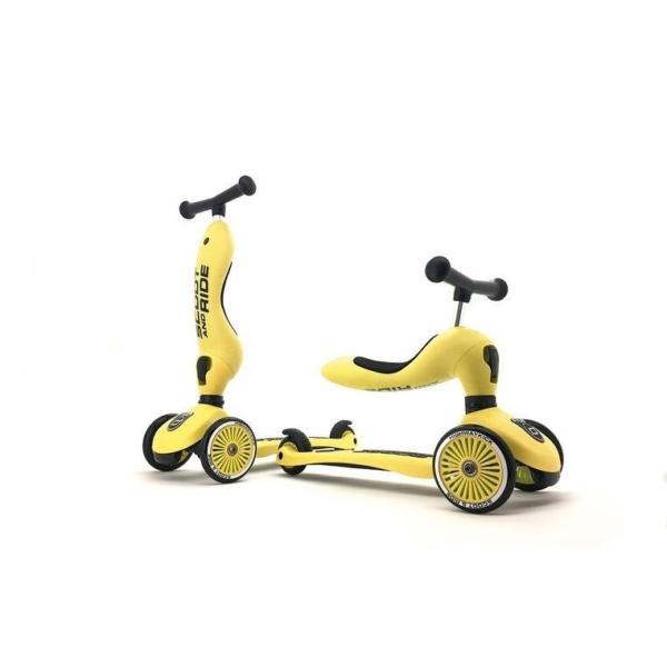 hulajnoga i jezdzik w kolorze cytrynowym