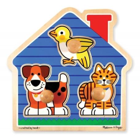 Puzzle drewniane z uchwytami - Zwierzęta domowe.jpg